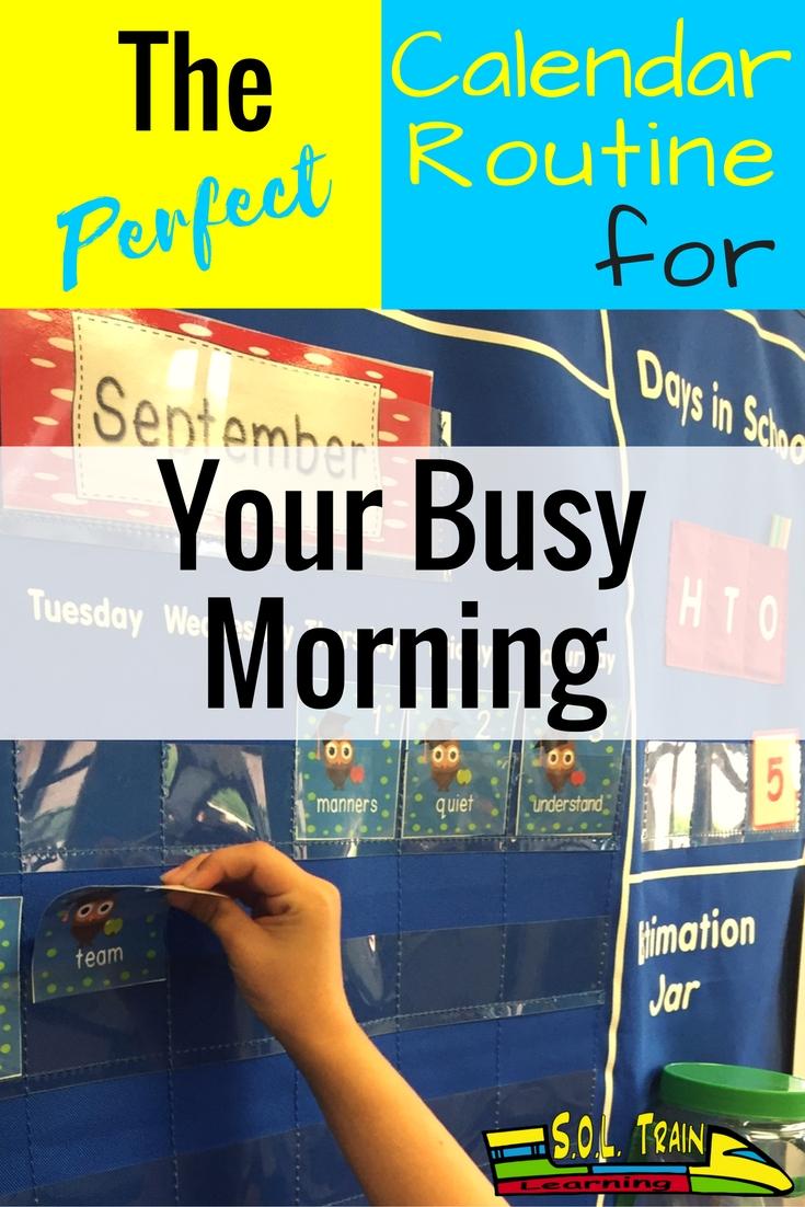 perfect calendar routine