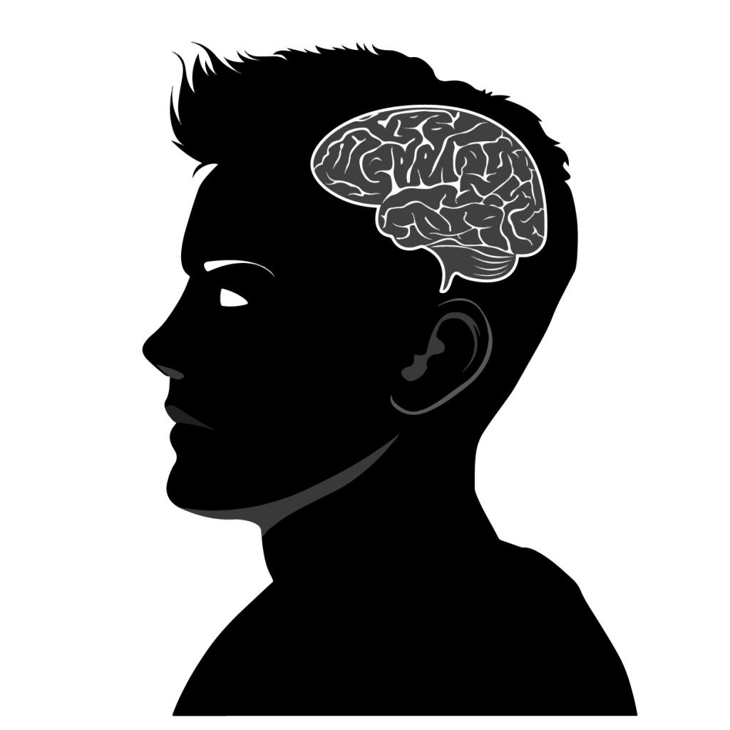 man-brain-bw