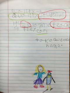 First grade journal writing