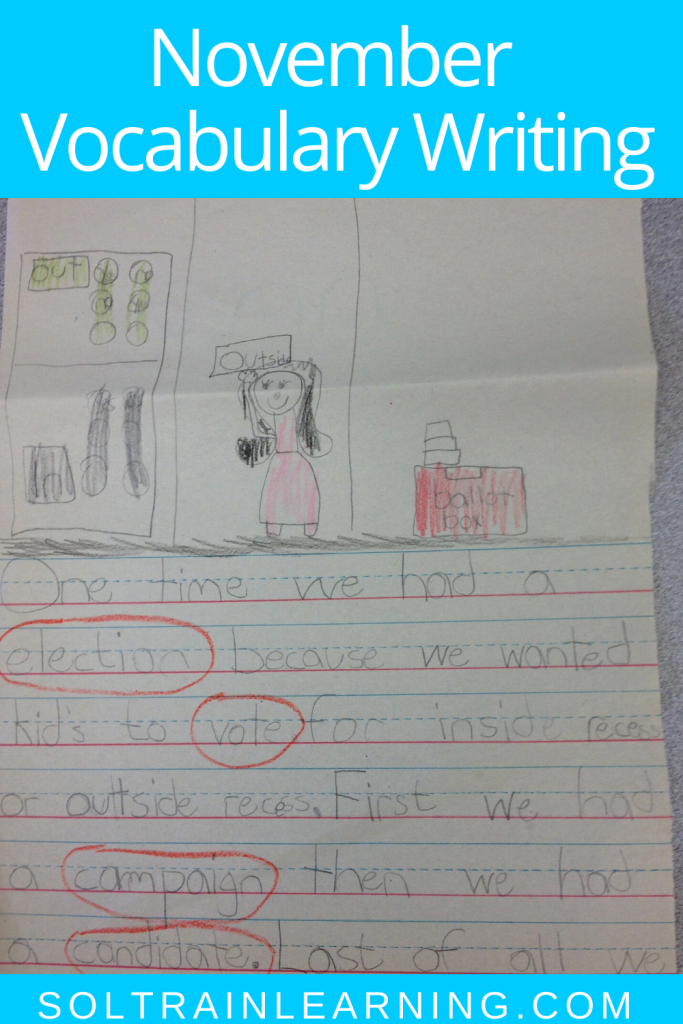 picture of student writing