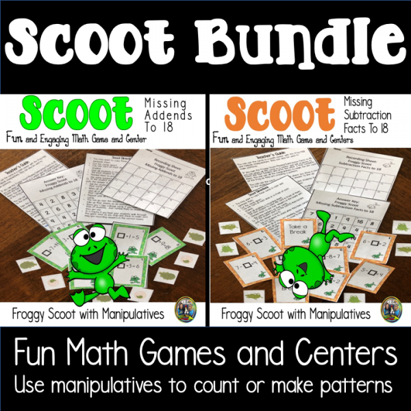 Froggy Scoot Math Game Bundle