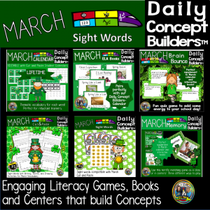 picture of March Literacy Activities