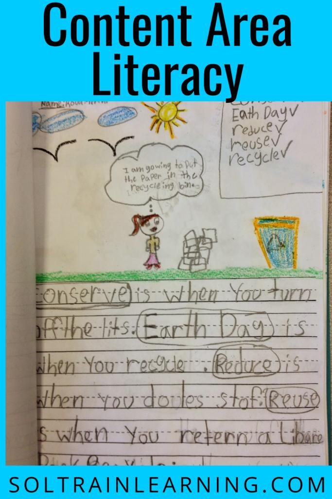 student writing using vocabulary