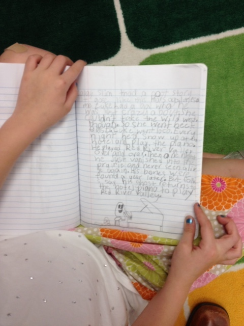 journal writing in first grade