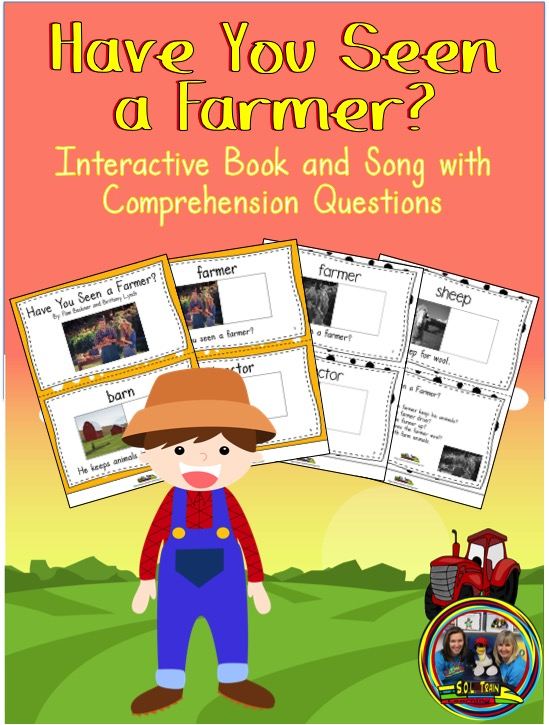 This book is about the farm and includes questions.