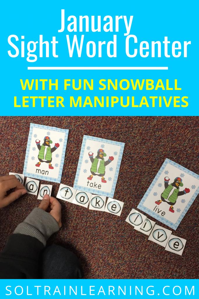 Penguin Sight Word Center