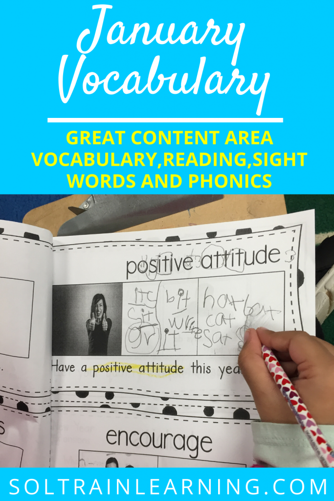 January Vocabulary Emergent Reader