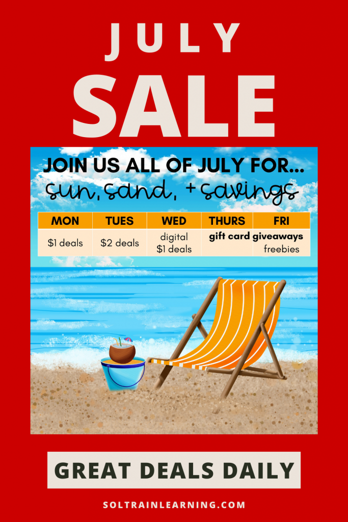 picture of beach for July Sale