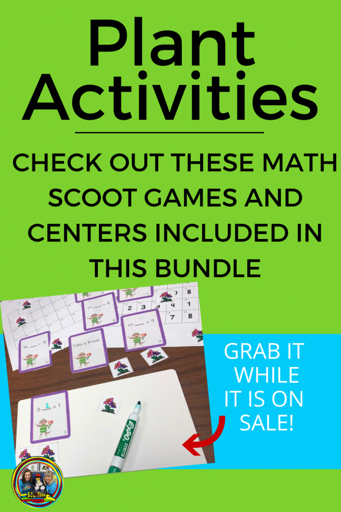 picture of plant scoot game/math center