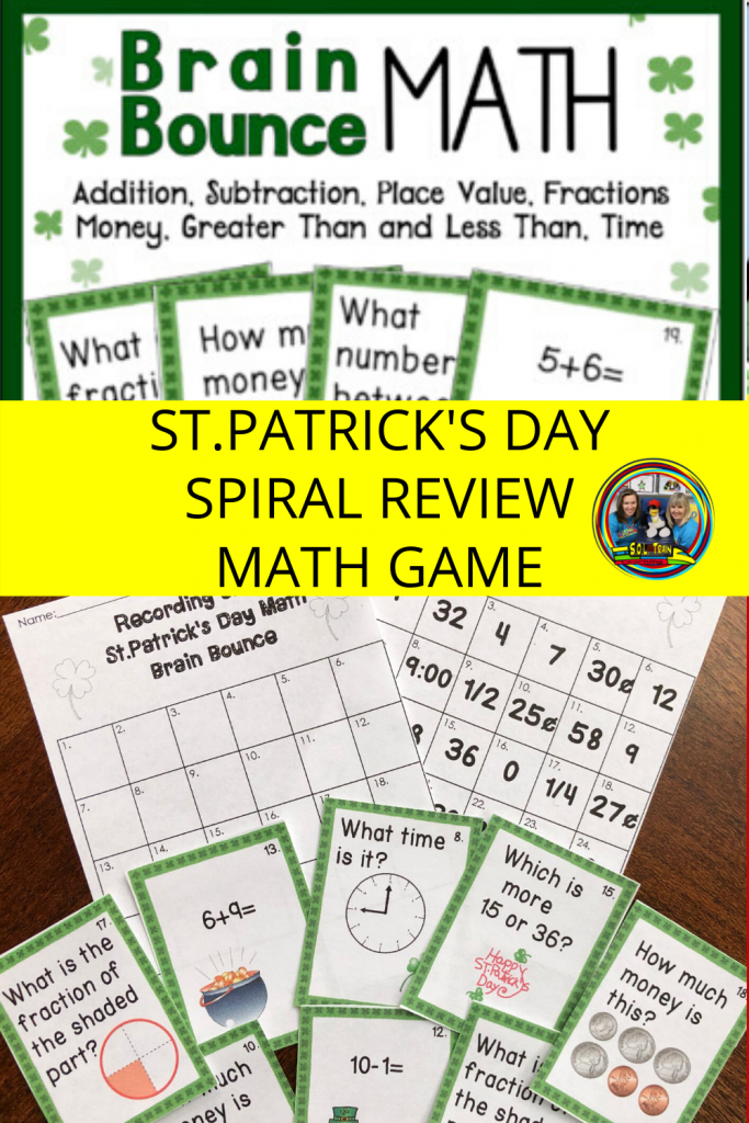 picture of St.Patrick's day math game