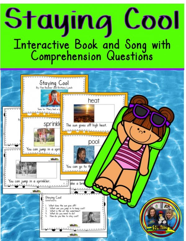 This is a book about staying cool in the summer with questions.