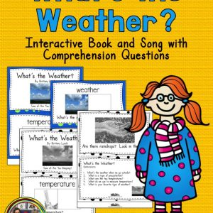 Weather Vocabulary Book with Questions