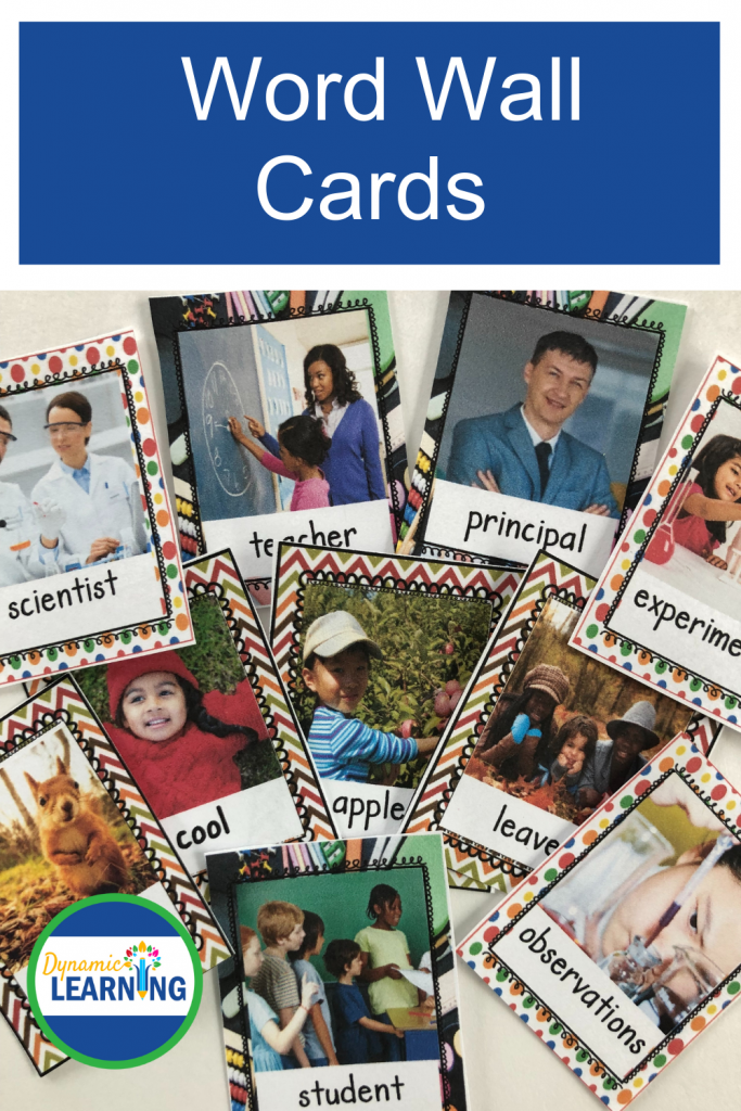 picture of word wall cards